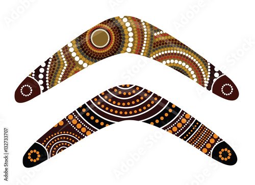 Australian boomerang vector. фототапет