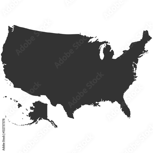Photo  USA map in gray