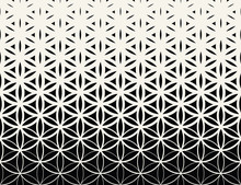 Abstract Sacred Geometry Black...
