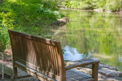 Terrific Calm Peaceful Sitting Spot With Bench And Reflective Waters Gmtry Best Dining Table And Chair Ideas Images Gmtryco