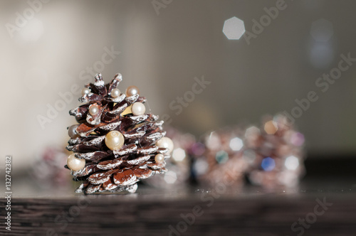 Christmas Tree Decorations Diy Idea Cones With Colorful Beads And