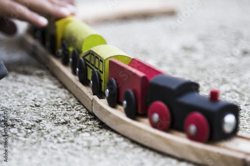 Zdjęcie XXL Drewniany pociąg dla dzieci