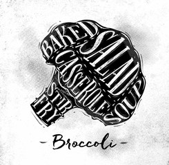 Broccoli cutting scheme