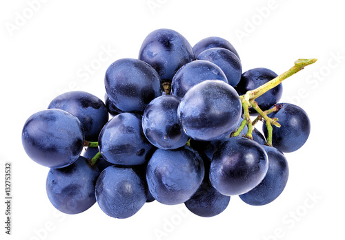 Canvas-taulu grapes isolated on the white