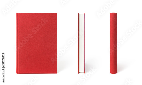 Fotografie, Obraz  Red book, the view from three angles