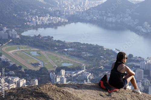 Fotografie, Obraz  View of two brother mountain, Rio de Janeiro