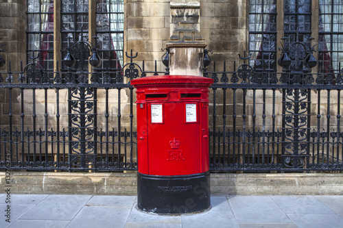 Vintage British Red Post Box in London Canvas Print
