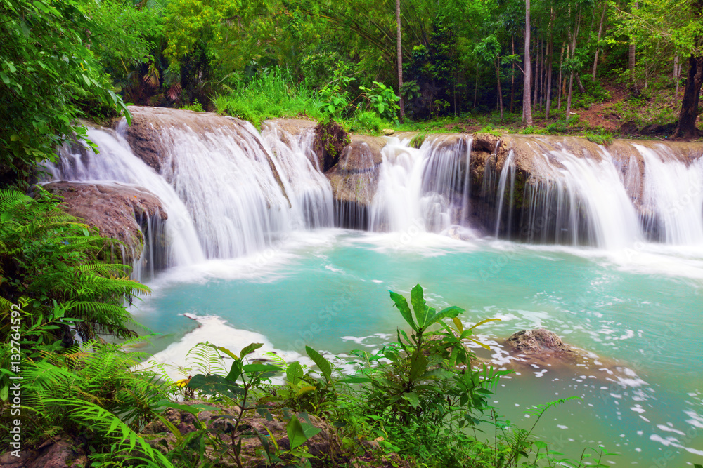 waterfall of island of Siquijor. Philippines