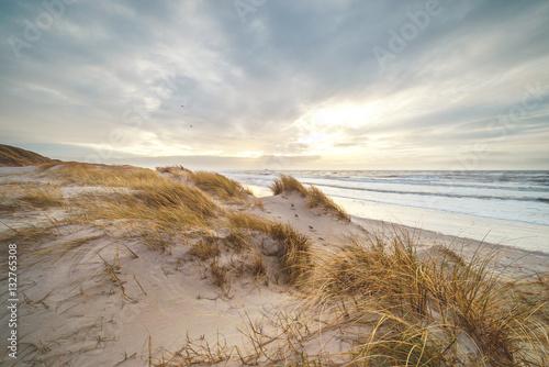Poster Noordzee Strand an der Nordsee