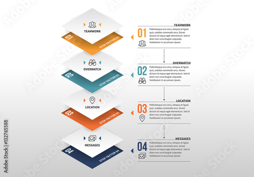 3d square stack infographic buy this stock template and explore