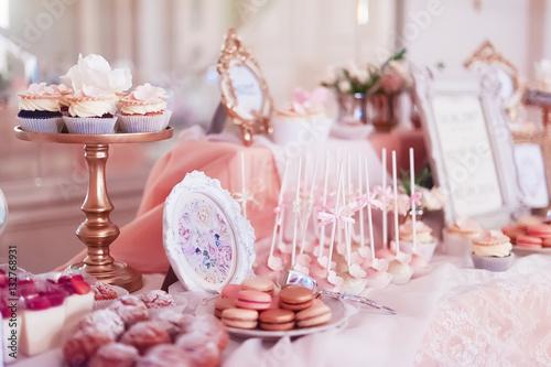 Foto-Lamellenvorhang - candy bar on wedding banquet (von ver0nicka)