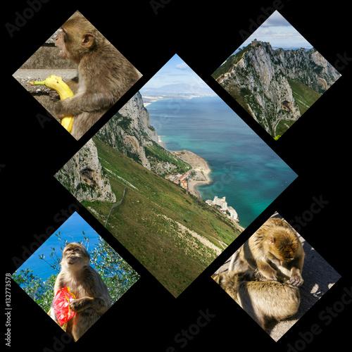 Spoed Foto op Canvas Oceanië Collage of Gibraltar (my photos)