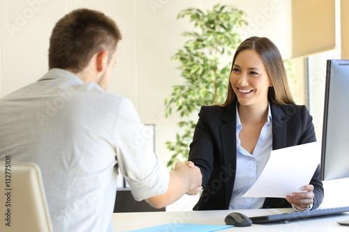 Fotografía  Successful job interview