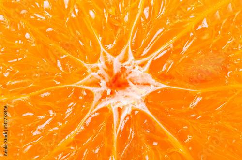 In de dag Macrofotografie Orange background from slice of an orange.