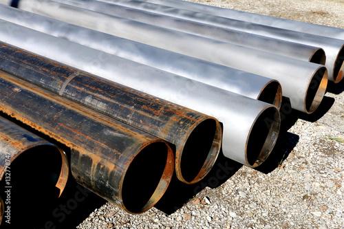 Fényképezés sandblasted pipe
