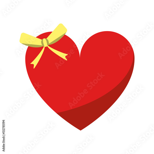 cute-love-heart-passion-with-bow-vector-illustration