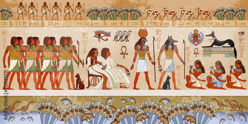 Photographie Dieux égyptiens et pharaons