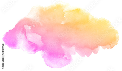 Abstract pink watercolor on white background Fototapeta