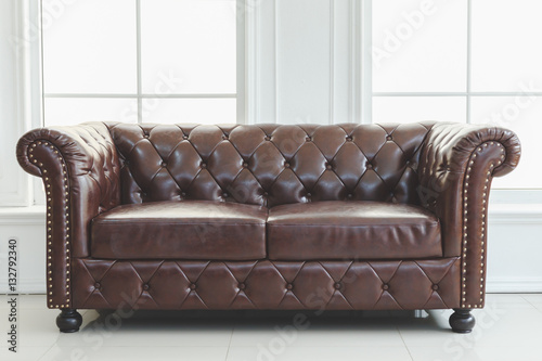 Sensational Beautiful Vintage In Interior Leather Sofa Next To Wall Pdpeps Interior Chair Design Pdpepsorg