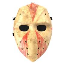 Scary Hockey Halloween Mask On...