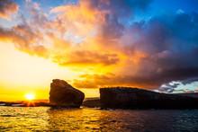 Sunset.  Lanai, Hawaii. Sweeth...