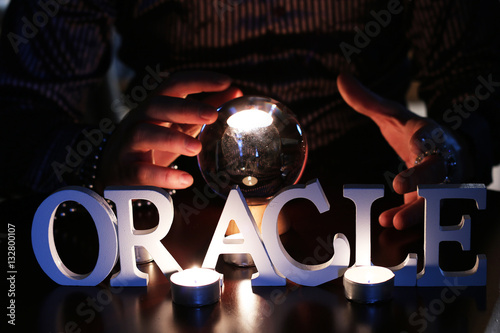 crystal ball Fortune Teller - Buy this stock photo and