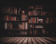 Blurred Image Many Old Books O...