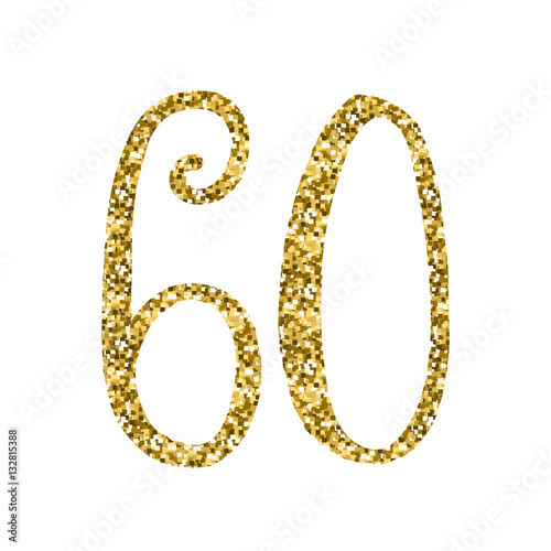 Fotografia  GOLD GLITTER ICON – 60 YEARS