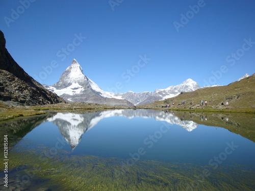 Poster Reflexion Matterhorn riflesso nel lago