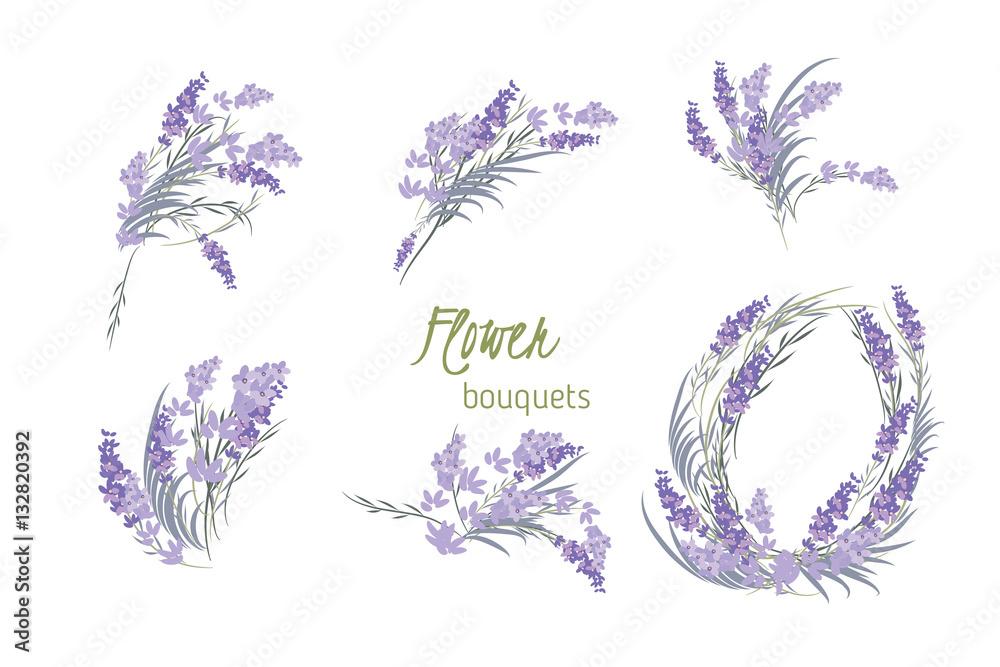 Fototapety, obrazy: Floral lavender retro vintage background