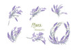 Floral lavender retro vintage background