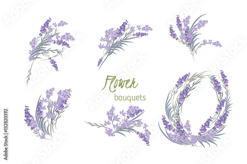 Photo  Floral lavender retro vintage background