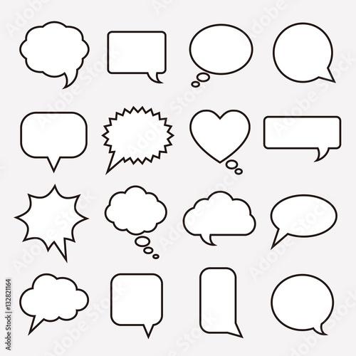 Communication bubbles Canvas Print