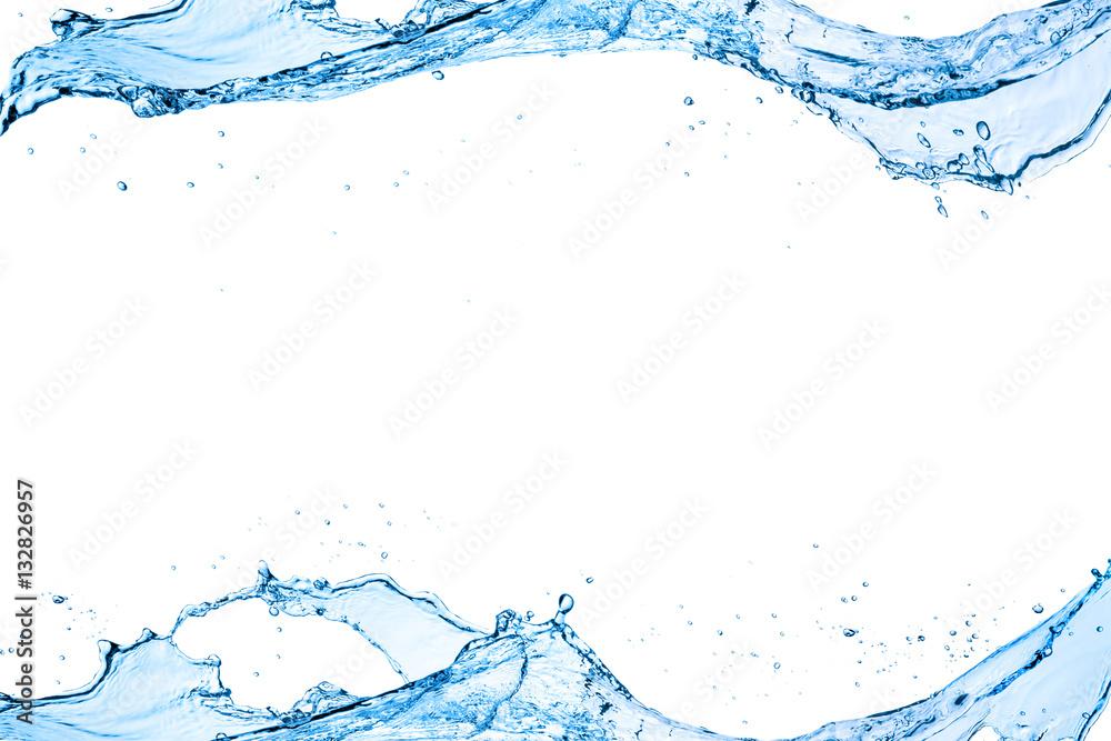 Fototapety, obrazy: water splash isolated on white background