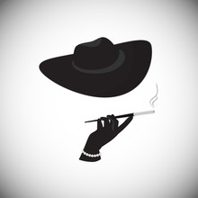 A Mysterious Stranger With A Cigarette In The Mouthpiece.