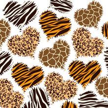 Animal Print Style Background Vector Illustration Design