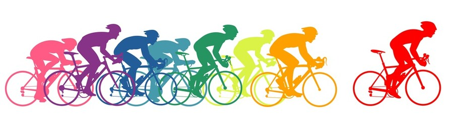 Trkači bicikala, šareni