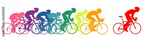 Bike racers, colorful Canvas