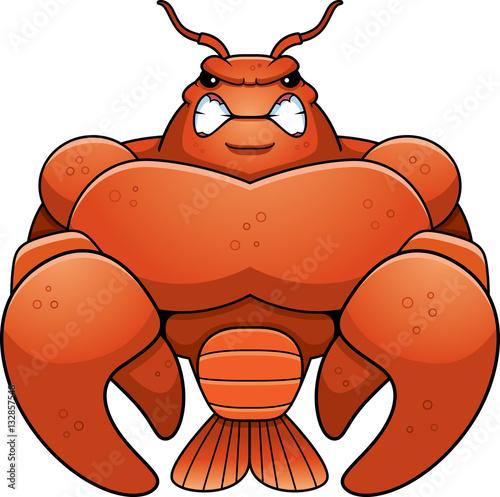 Photo  Angry Cartoon Muscular Crawfish