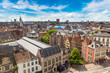 canvas print picture - Panoramic view of Gent