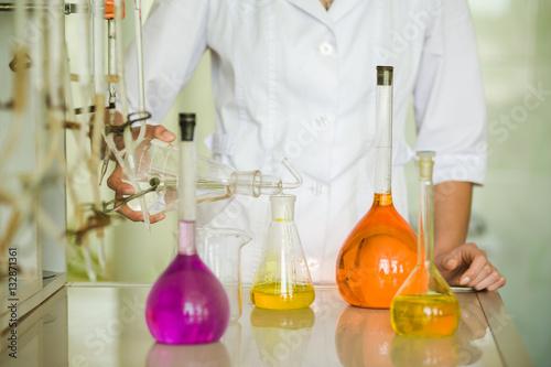 Valokuva  chemical laboratory. analysis. titration