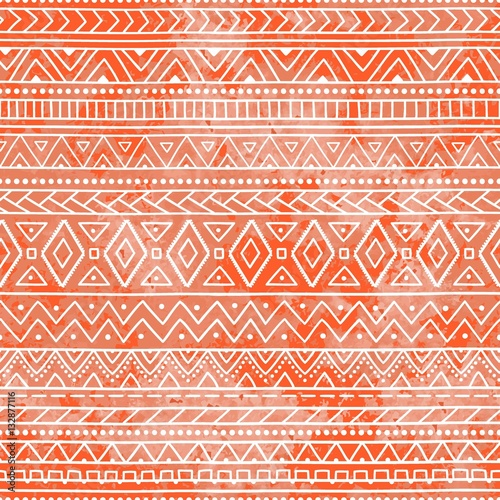 Canvas Prints Boho Style Seamless geometric pattern. Ethnic and tribal motifs. Bright ora