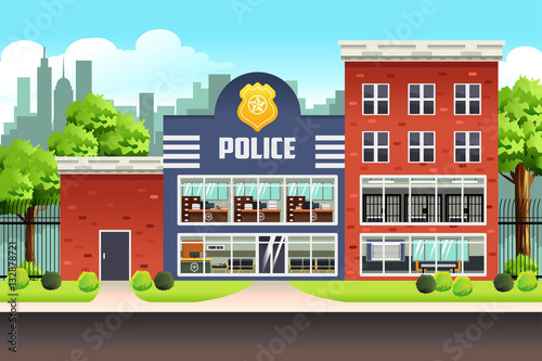 Fotomural Police Station