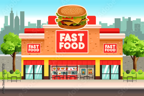 Fast Food Restaurant Poster