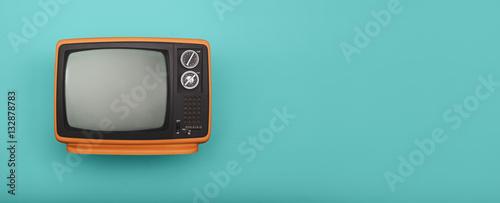 fototapeta na lodówkę Retro television header
