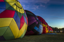 Hot Air Balloon Dawn Patrol Preparation For Launch Over Sonoma County
