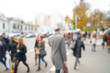 Blurred background of crowded city street