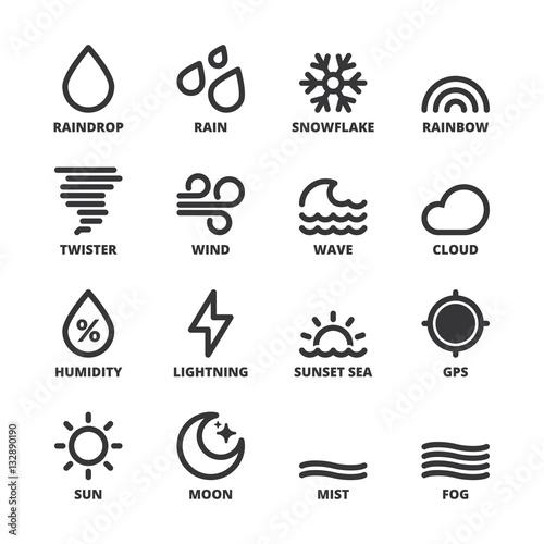 The Weather Forecast Symbols 1 Flat Symbols Black Buy This Stock