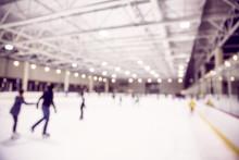 Ice Skating Indoor Rink. Defoc...