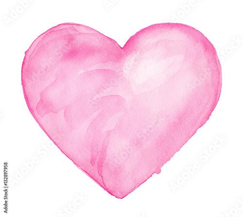 Fotografia  Cute Heart. Watercolor drawing